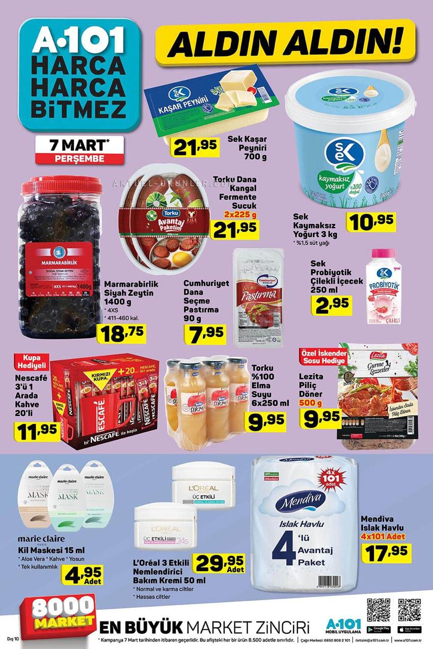 A101 Aktüel 7 Mart Perşembe Gıda Ürünleri İndirimleri