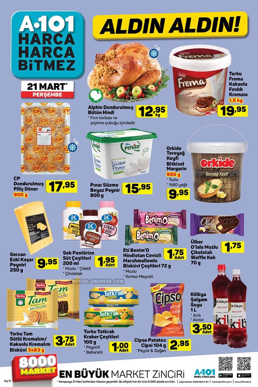 A101 21 Mart Gıda Aktüel Ürün İndirim Sayfası