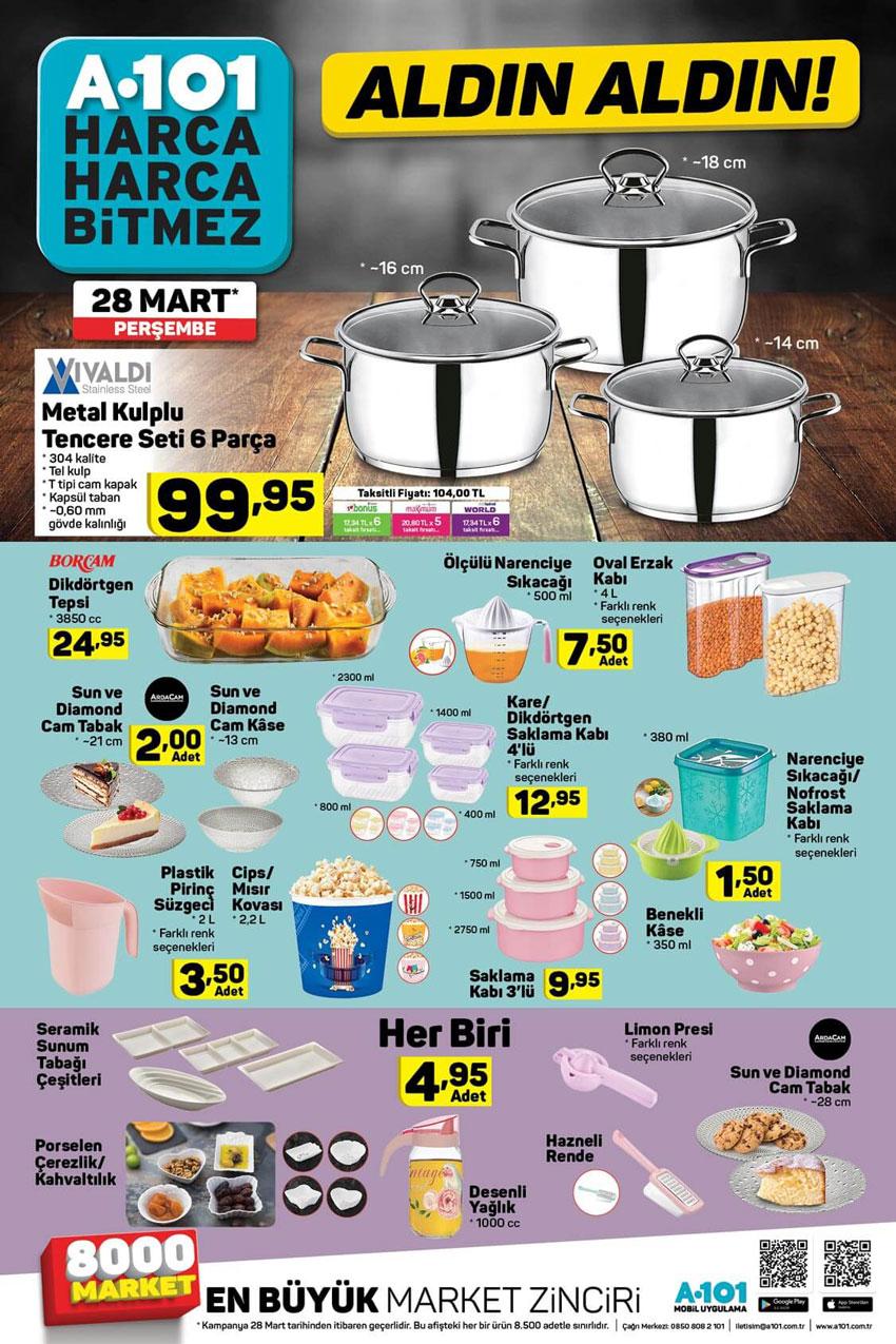 A101 28 Mart Aktüel Mutfak Ürünleri Sayfası