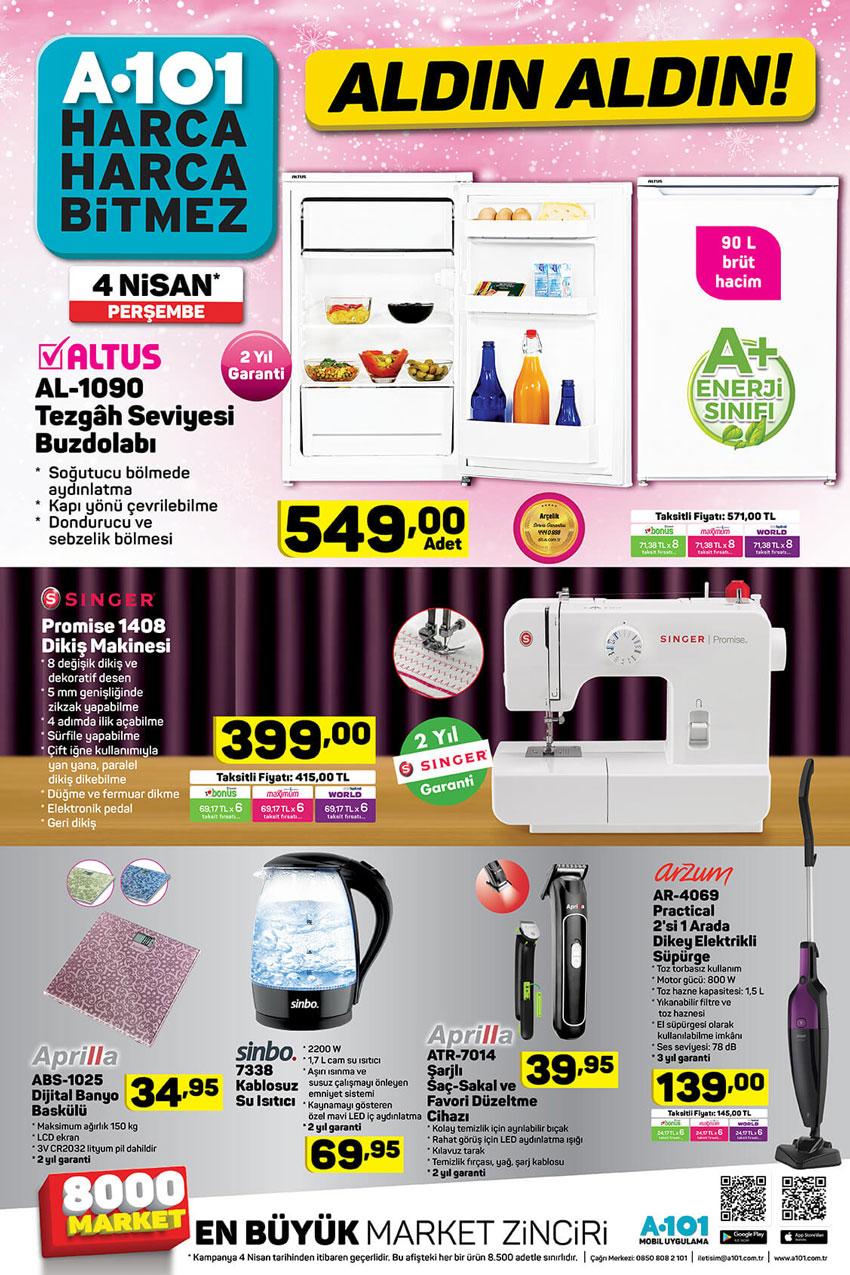 A101 4 Nisan Aktüel Ürün Yeni Kataloğu