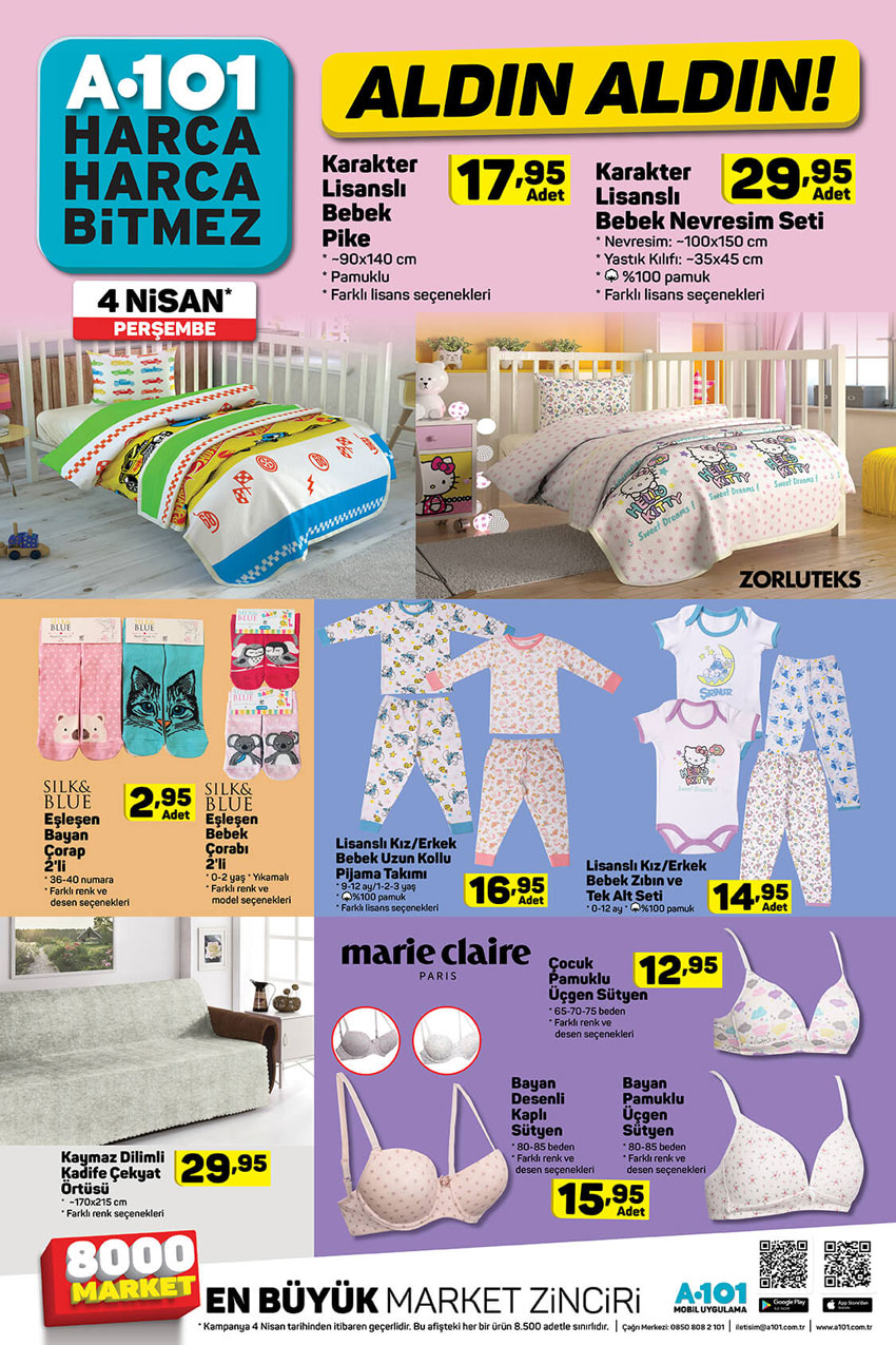 A101 4 Nisan ile Gelecek Yeni Spot Ürünler