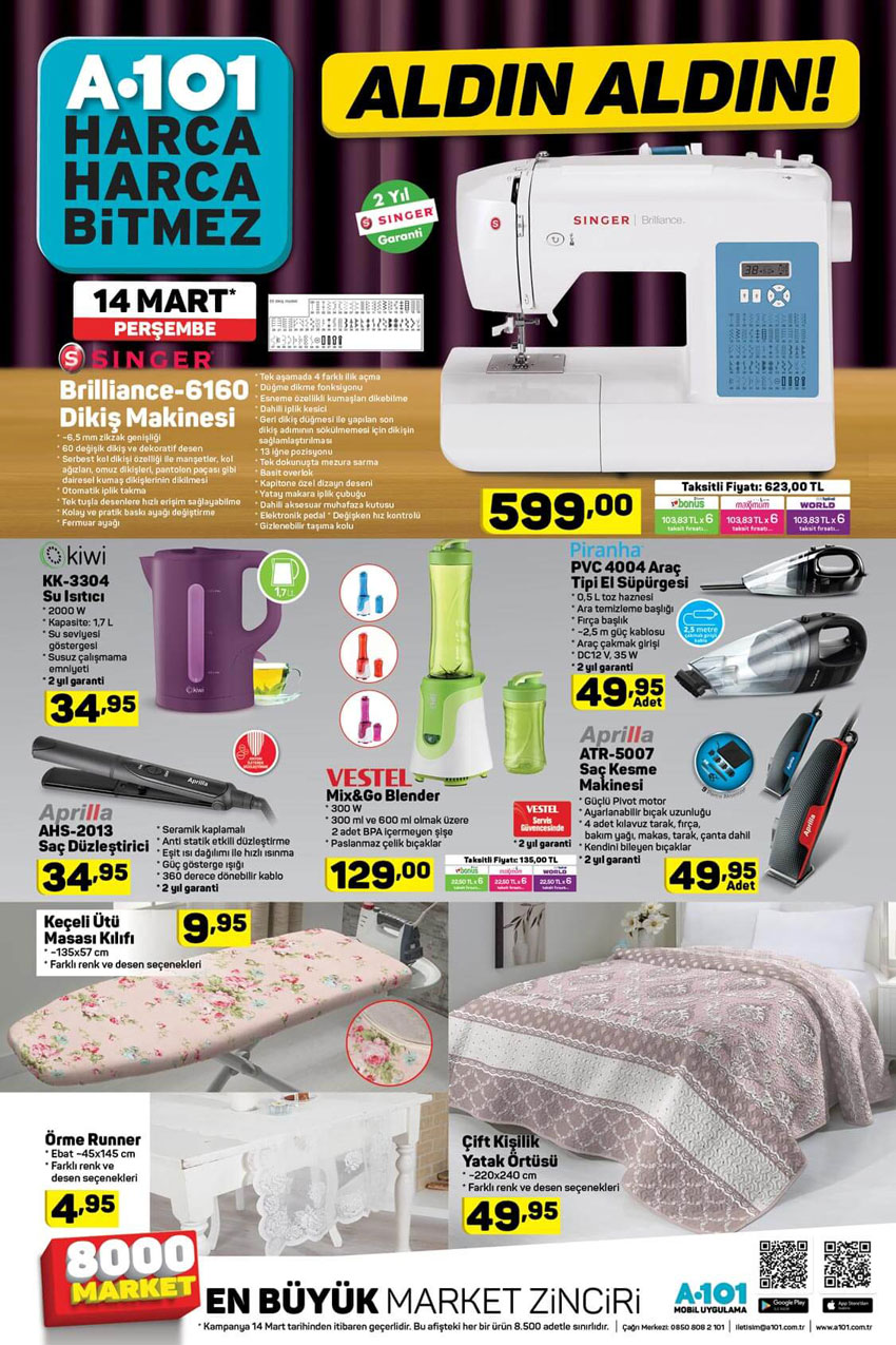 A101 Aktüel 14 Mart Ev Tekstili Fırsat Ürünleri