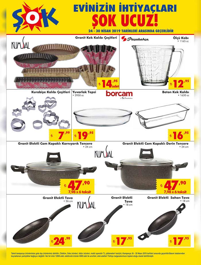 ŞOK 24 Nisan Aktüel Mutfak Ürün Listeleri Sayfası
