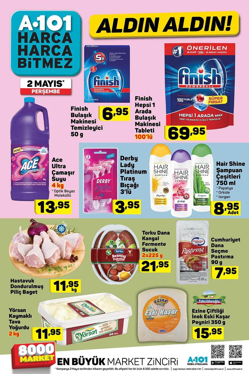 A101 2 Mayıs Özel İndirimler ve Spot Ürünler Sayfası