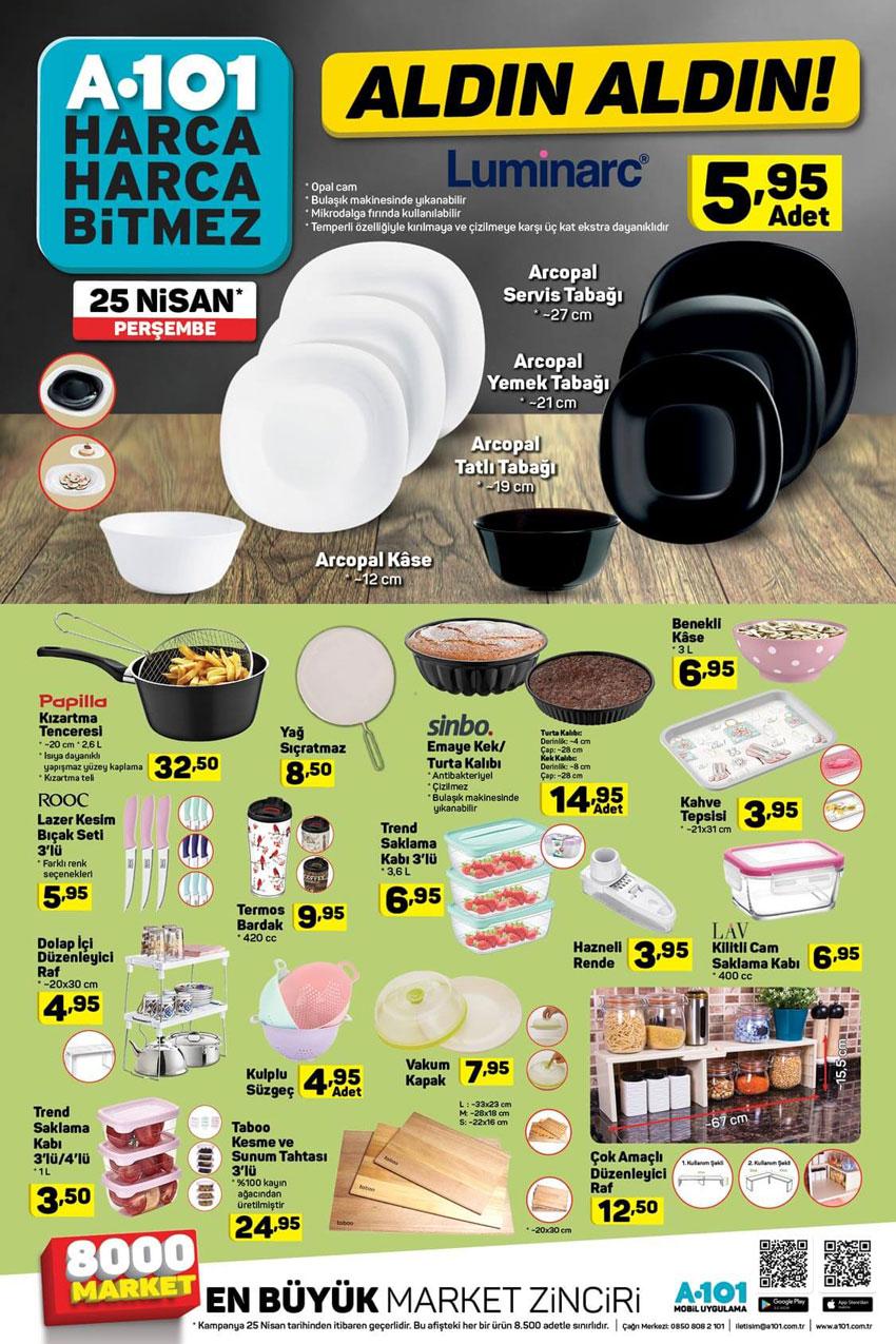 A101 Aktüel 25 Nisan Mutfak Ürün Kataloğu