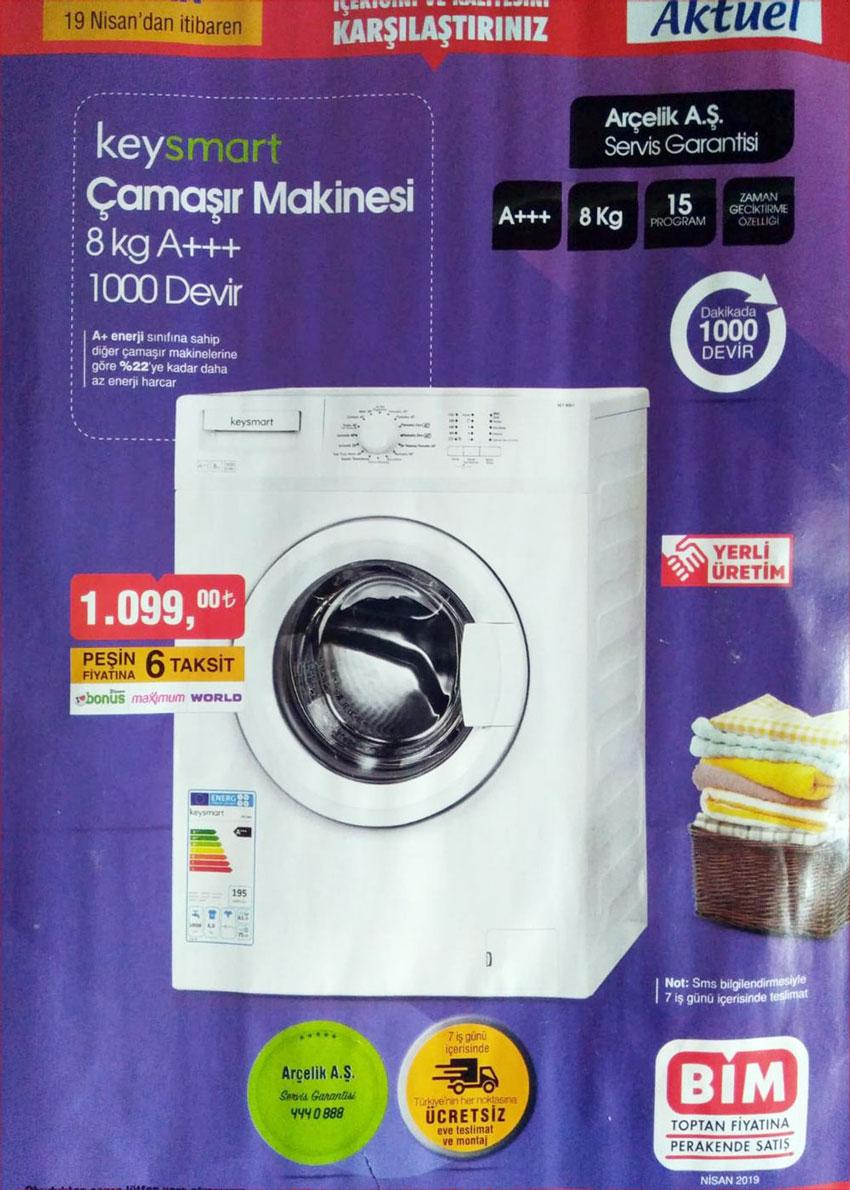 BİM Çamaşır Makinesi Kampanyası – 19 Nisan Cuma