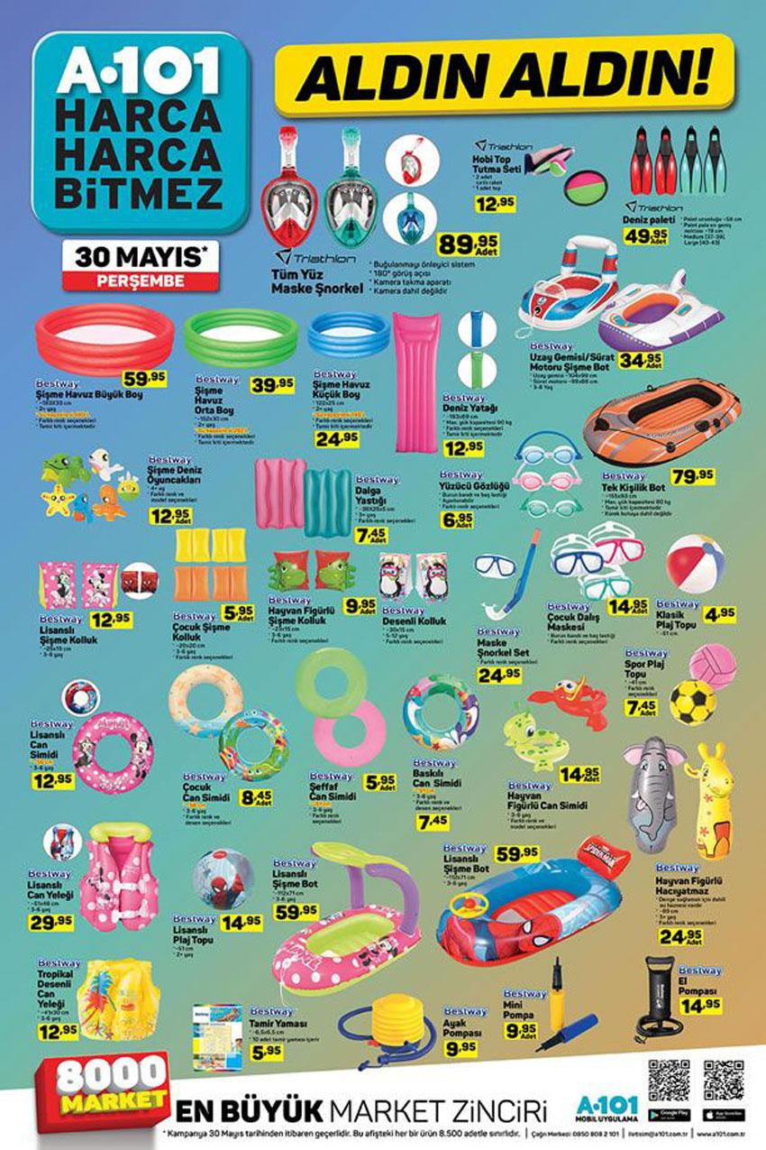 A101'de Bu Hafta Plaj Ürünleri Sizlerle – (30 Mayıs 2019)