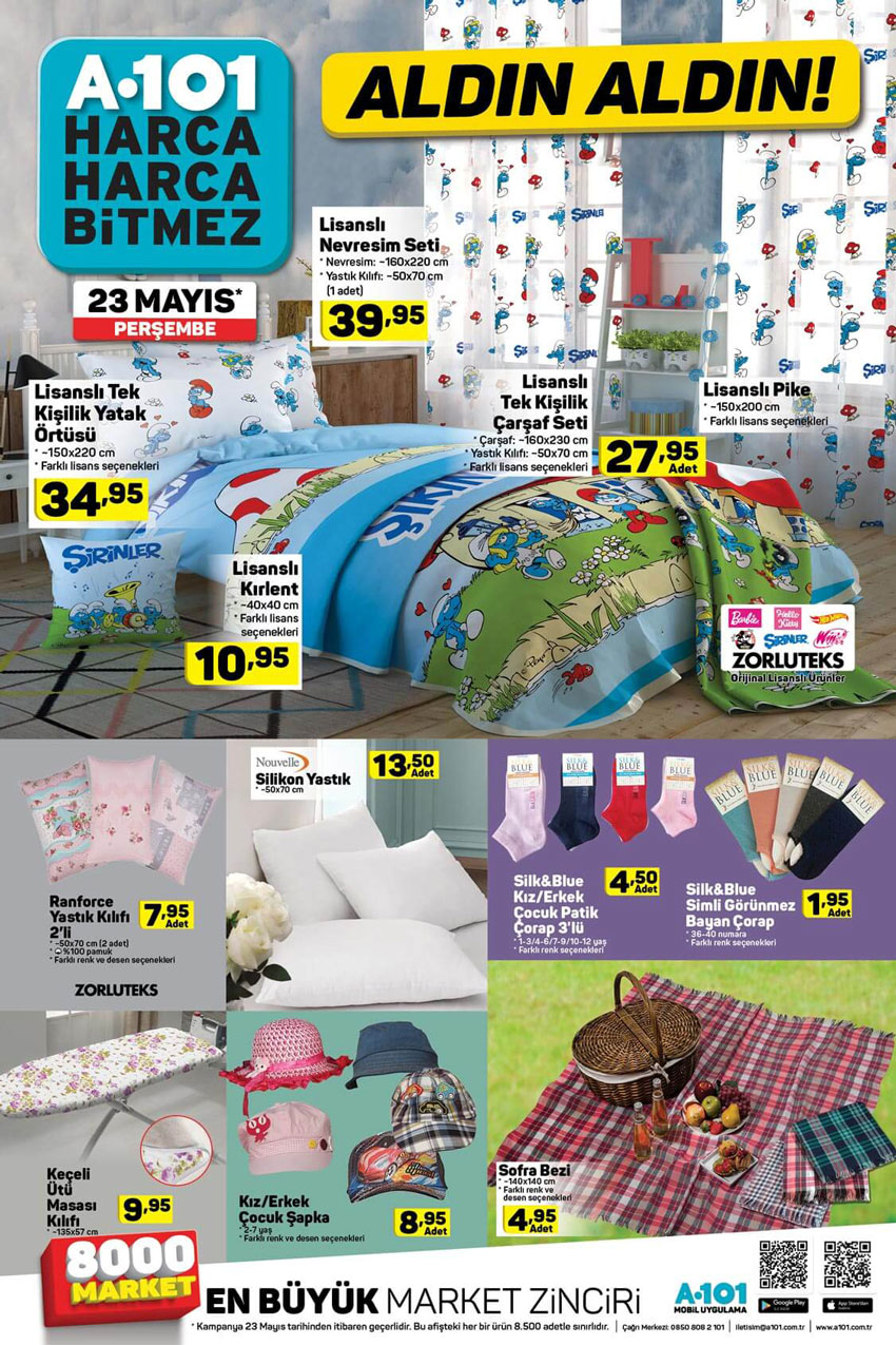 A101'de Sizlerle Olacak 23 Mayıs Ev Tekstili Ürünleri
