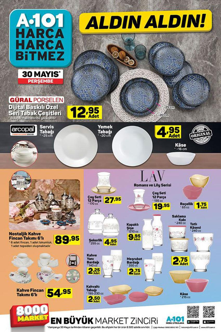 A101 30 Mayıs Perşembe Mutfak Ürünleri Aktüel Katalogu