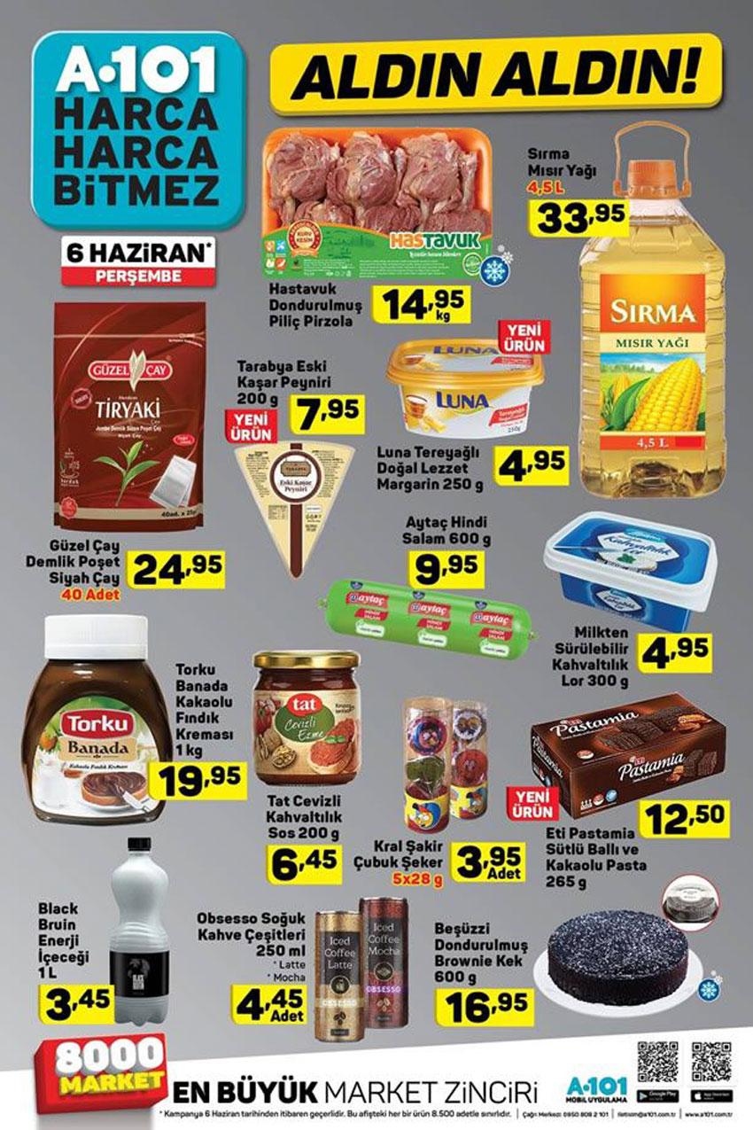 A101 6 Haziran Perşembe Spot Gıda Ürünler Listesi