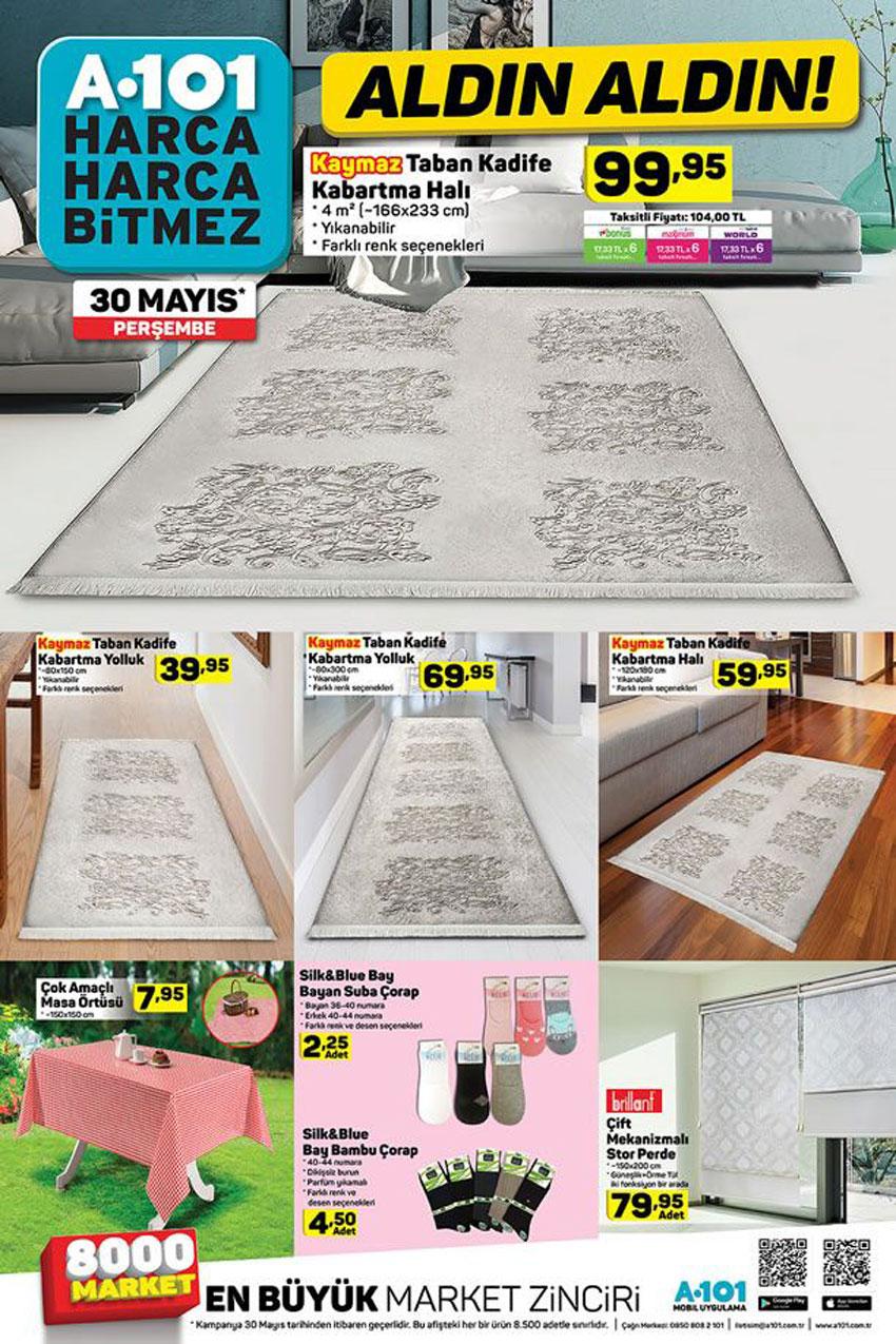 A101 Ev Dekorasyonu Aktüel Kataloğu 30 Mayıs