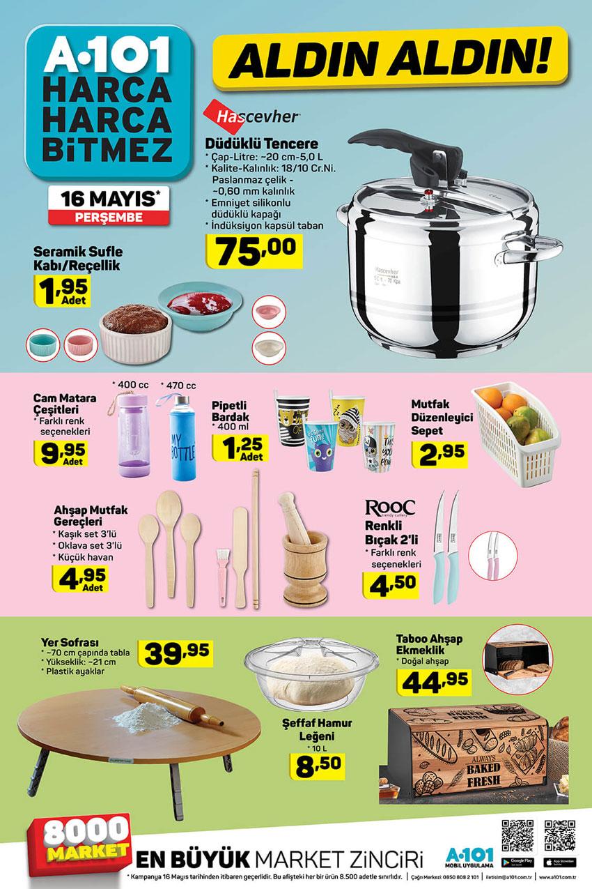 A101 Mutfak Ürünleri 16 Mayıs 2019 Detayları