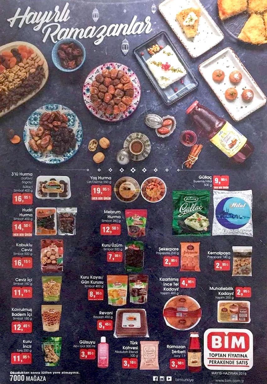 Bim Ramazan Ayı 2019 Aktüel Ürünleri