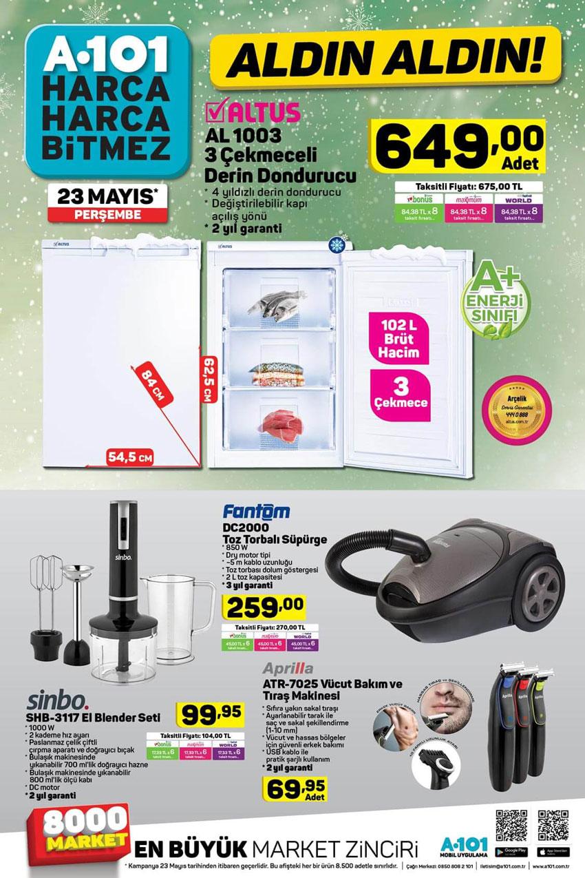 Yeni Gelecek A101 Katalog Ürünleri 23 Mayıs Sayfası
