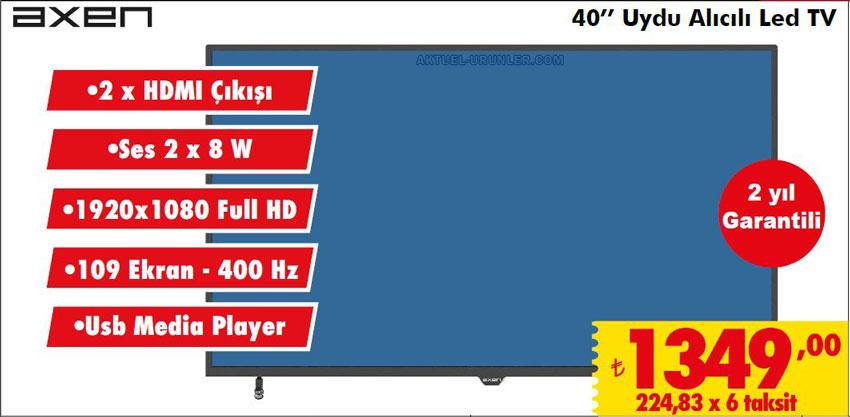 Axen 40'' Uydu Alıcılı LED TV | ŞOK 25 Mayıs