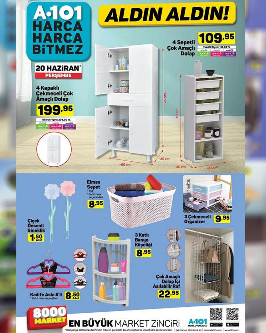 A101 20 Haziran Aktüel Mobilya Ürünleri Sayfası