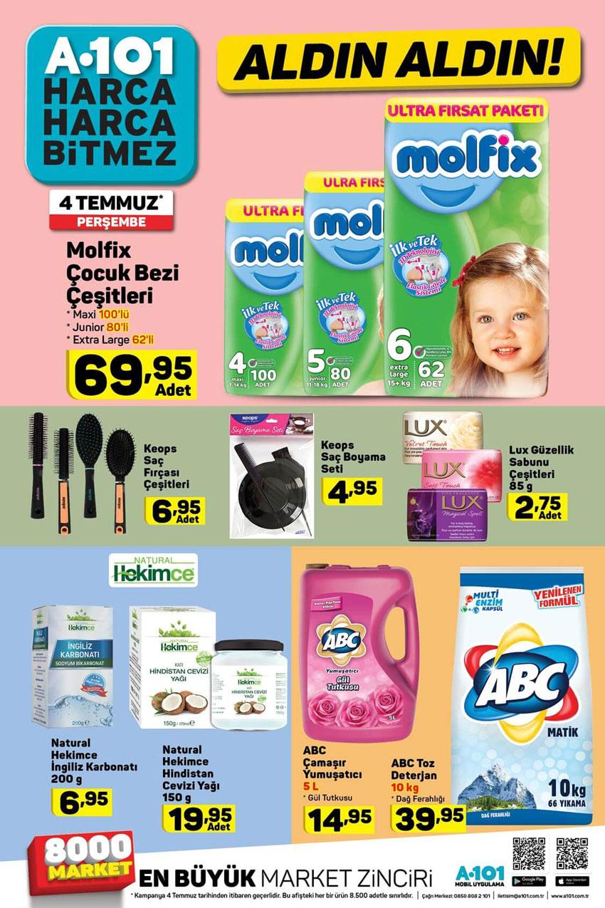 A101 Aldın Aldın 4 Temmuz Aktüel Temizlik Fırsatları