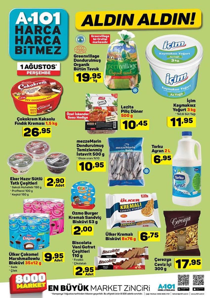 A101 1 Ağustos Gıda Ürünleri Aktüel Ürün Kataloğu