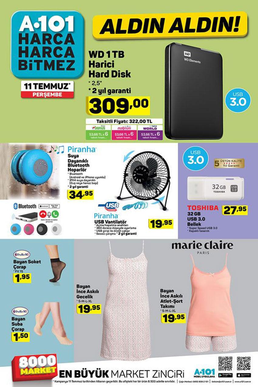 A101 11 Temmuz ile Gelen Depolama Ürünleri Kataloğu