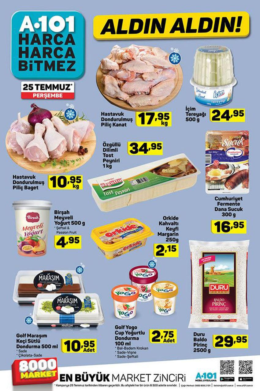 A101 25 Temmuz Spot Gıda Ürünleri Aktüel Kataloğu