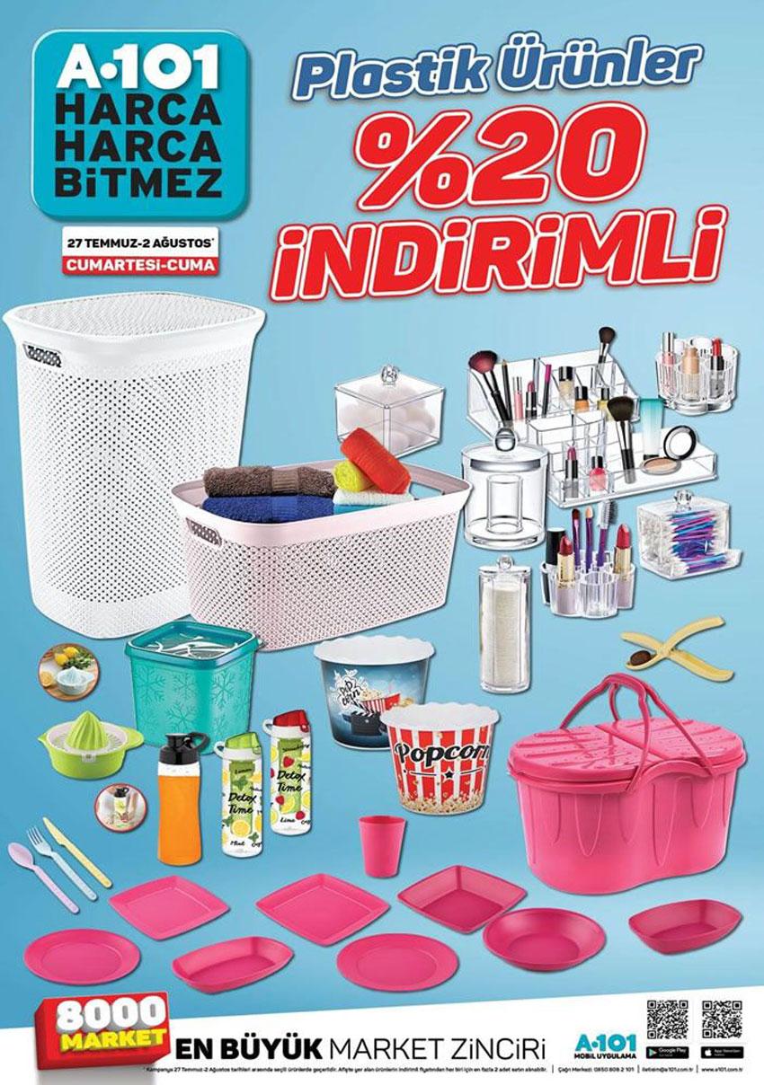 A101 27 Temmuz Plastik Ürünlerde Büyük Hafta Sonu İndirimi