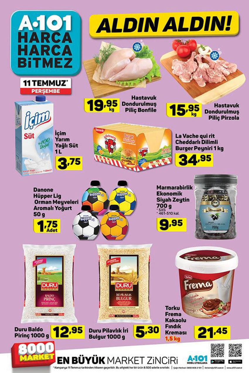 A101 Aktüel 11 Temmuz 2019 Yeni Gıda Kataloğu