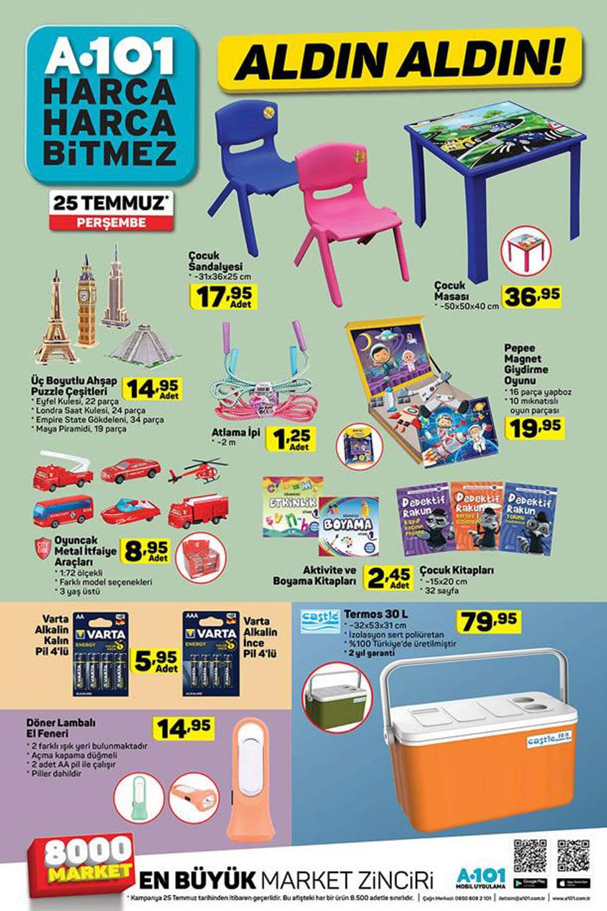 A101 Market 25 Temmuz Oyuncak Aktüel Ürün Katalogları