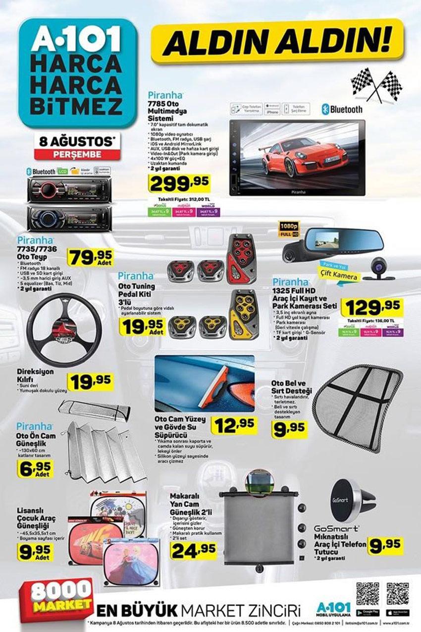 8 Ağustos A101 Otomobil Aktüel Ürünleri