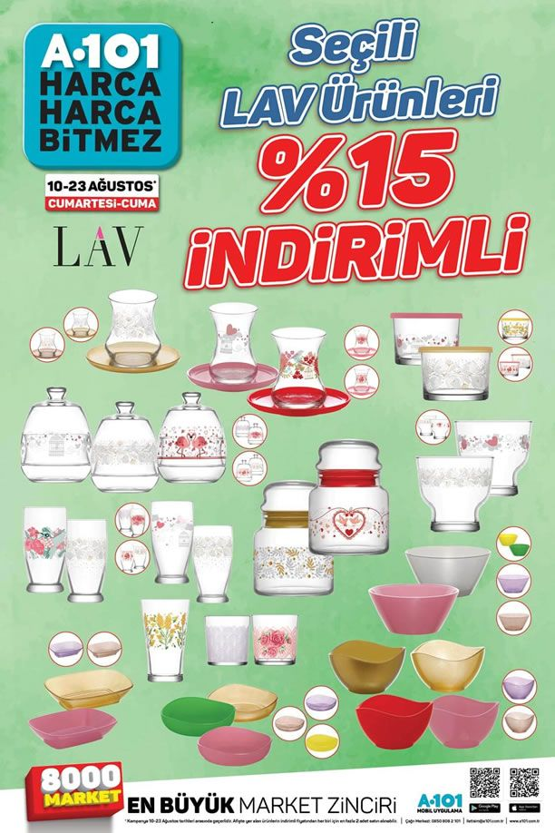 A101 10 Ağustos LAV Ürünleri Büyük İndirim Kampanyası