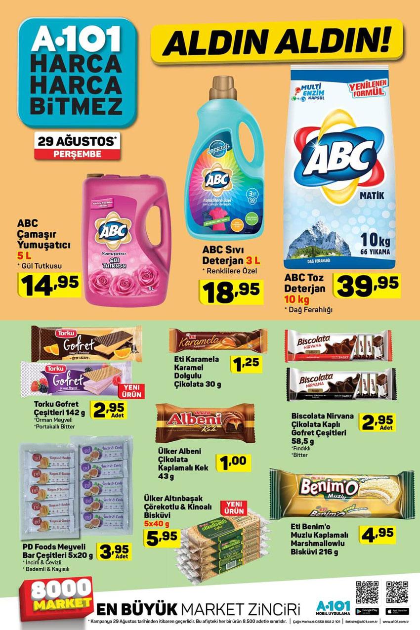 A101 29 Ağustos Temizlik Fırsatları Yeni Sayfası