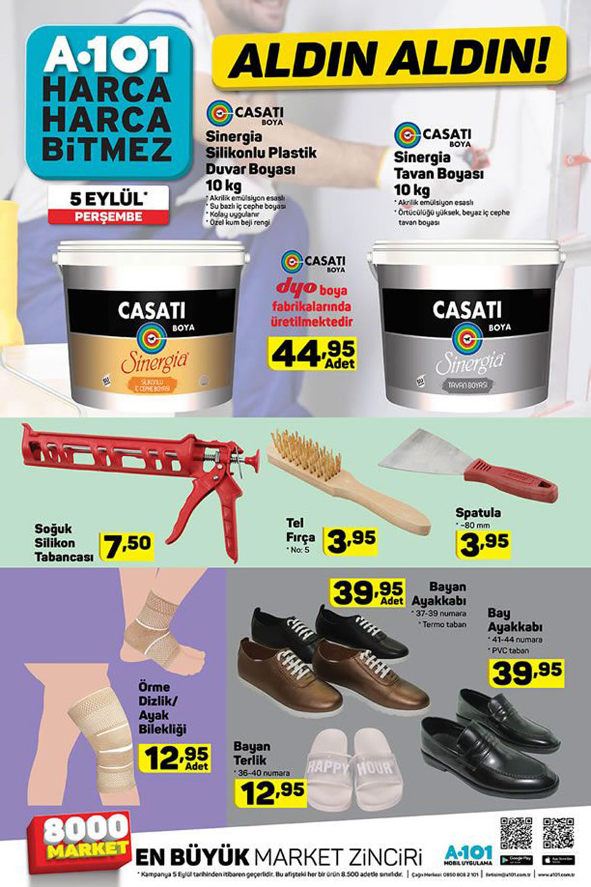 A101 5 Eylül Boya Çeşitleri Aktüel Ürünler Sayfası