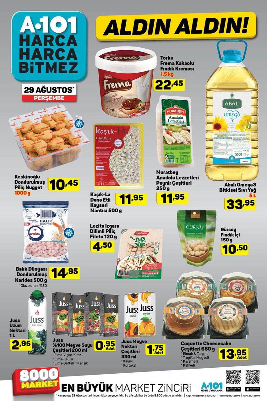 A101 Aktüel 29 Ağustos Gıda Ürünü İndirimleri
