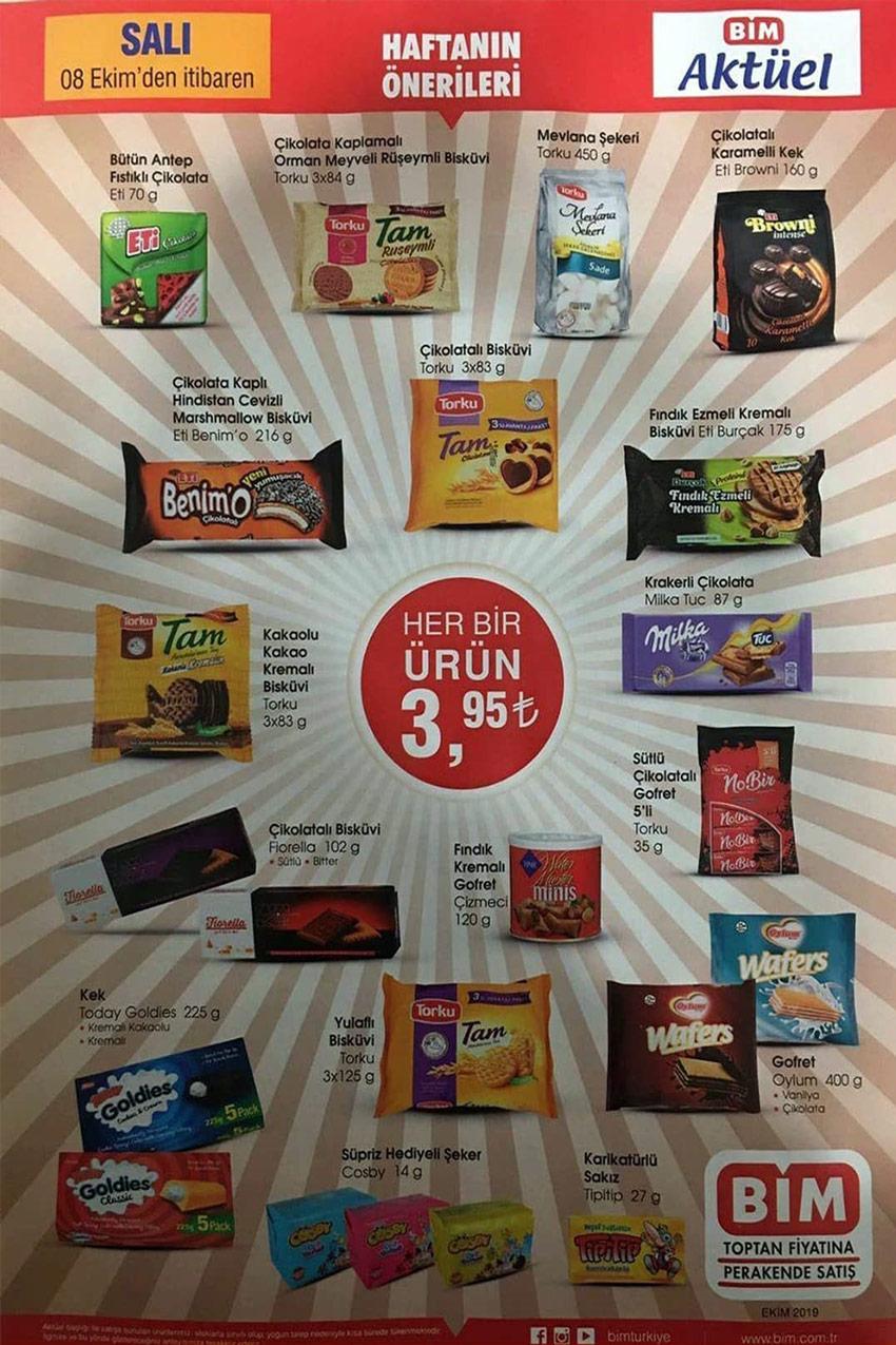 8 Ekim Bim Aktüel Tek Fiyat Ürün Listesi