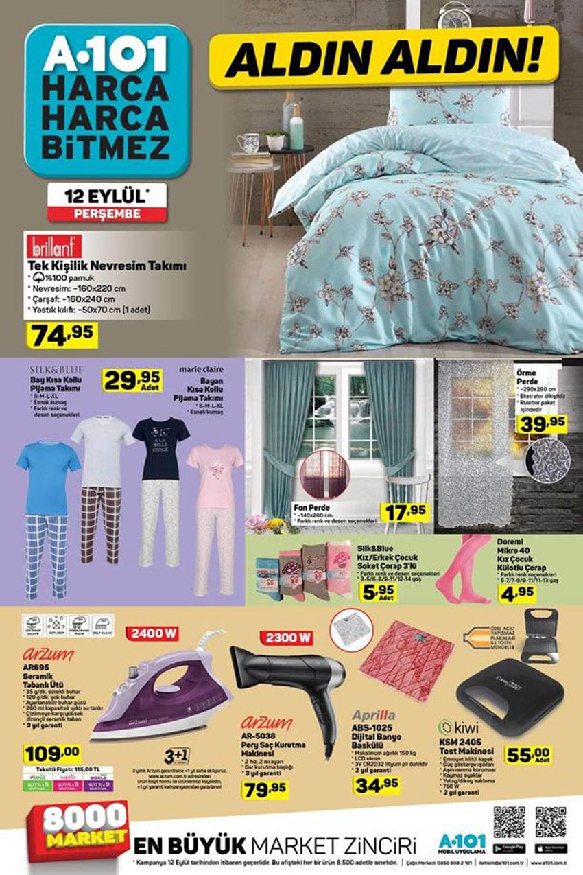 A101 12 Eylül 2019 Çok Kullanışlı Aktüel Ürünler Kataloğu