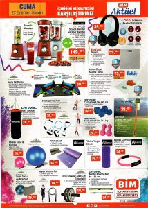 BİM 27 Eylül Spor Aleti Ürünleri Sayfası