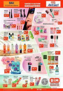 BİM Aktüel 10 Eylül Salı Makyaj Ürünleri