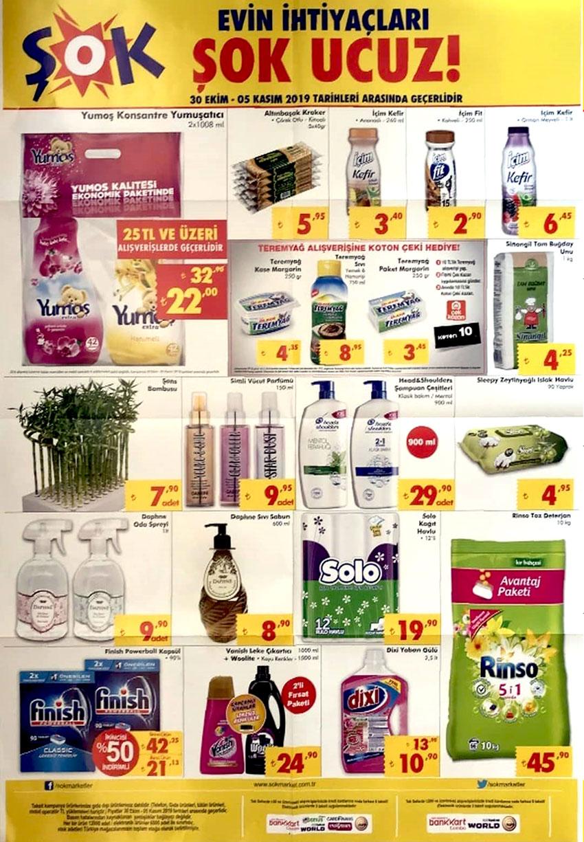 ŞOK Temel Gıda ve Temizlik Ürünleri 30 Ekim