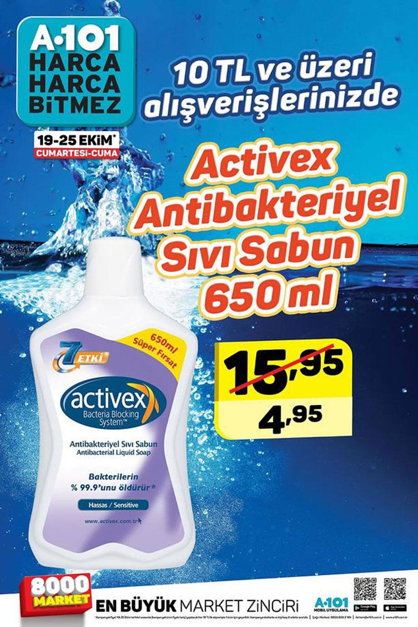 A101 Activex Antibakteriyel Sıvı Sabun 19 Ekim Büyük Kataloğu