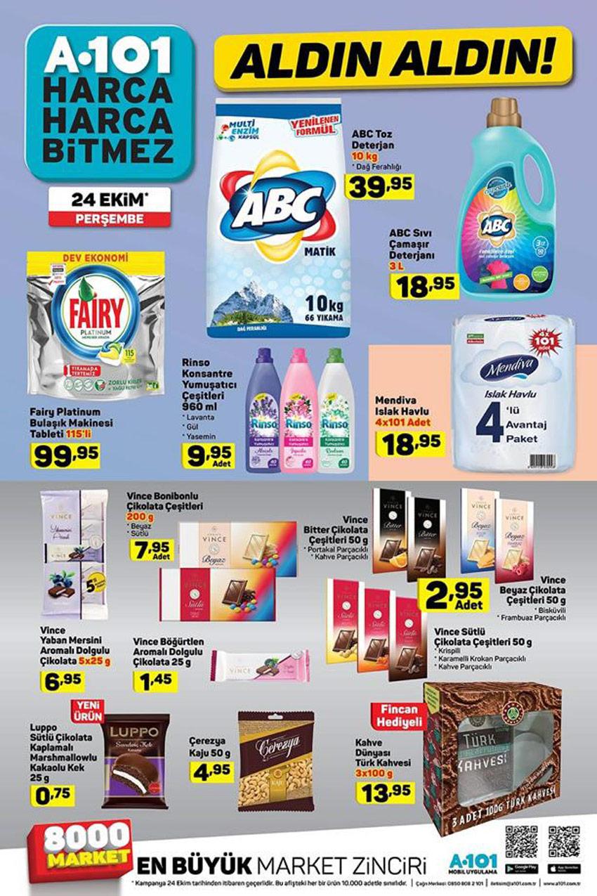 A101 Gıda ve Temizlik Ürünleri Yeni Ay Kampanyaları