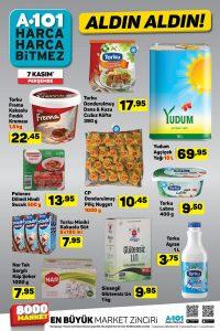 A101 Temel Gıda Ürünleri 7 Kasım 2019 Detayı