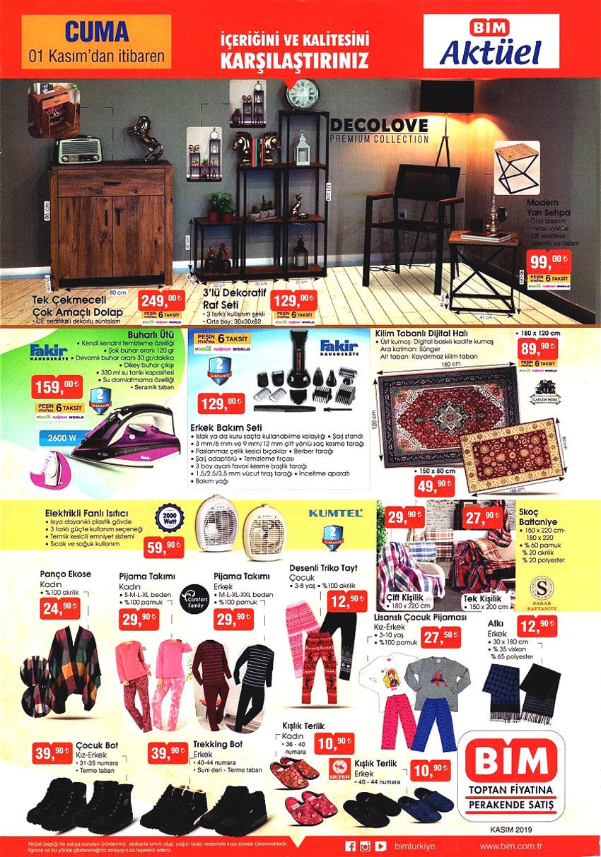 Bim ile Mobilya Ürünleri 1 Kasım'da Çok Ucuz