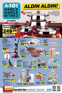 21 Kasım - 27 Kasım A101 Mutfak Ürünleri Dev Kataloğu
