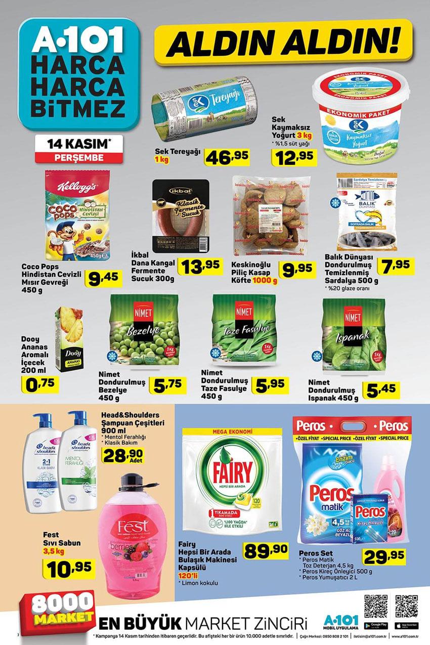 A101'de Temel Gıda İndirimleri 14 Kasım Detayları