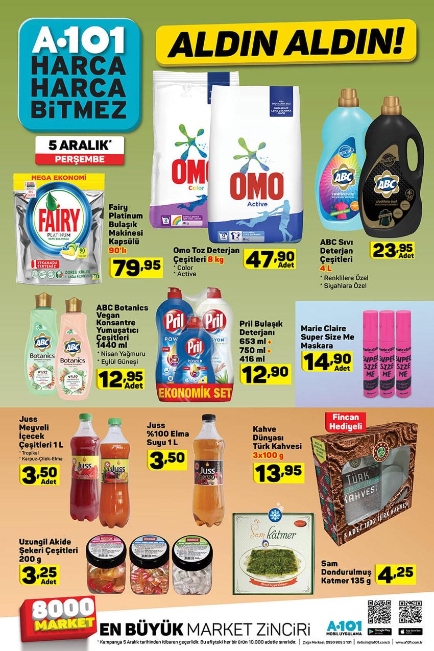A101 Aktüel Katalogları 5 Kasım Perşembe Gıda Fırsatları