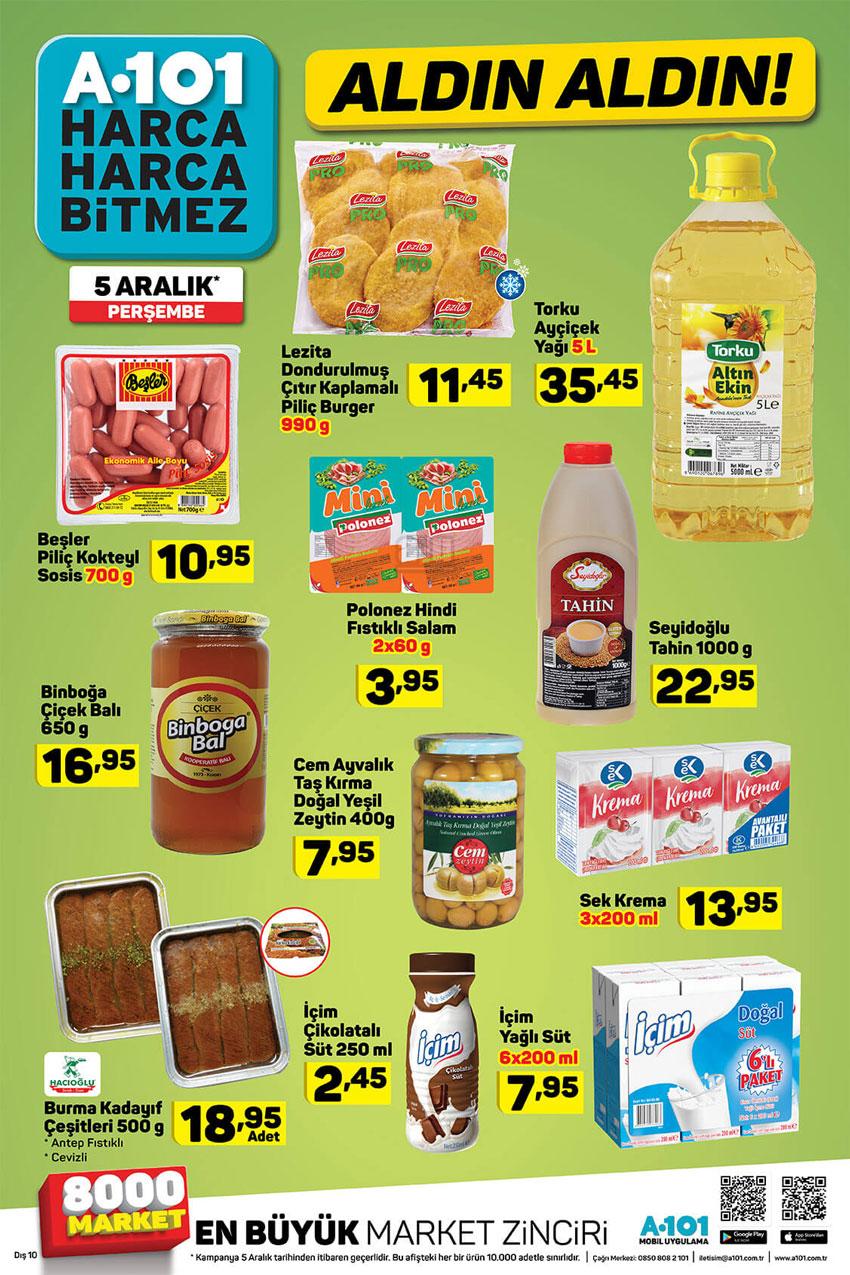 A101 Aldın Aldın Temel Gıda 5 Aralık İndirim Listeleri