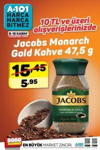 A101 Jocobs Monarch Gold Kahve Fırsatı 9 - 10 Kasım