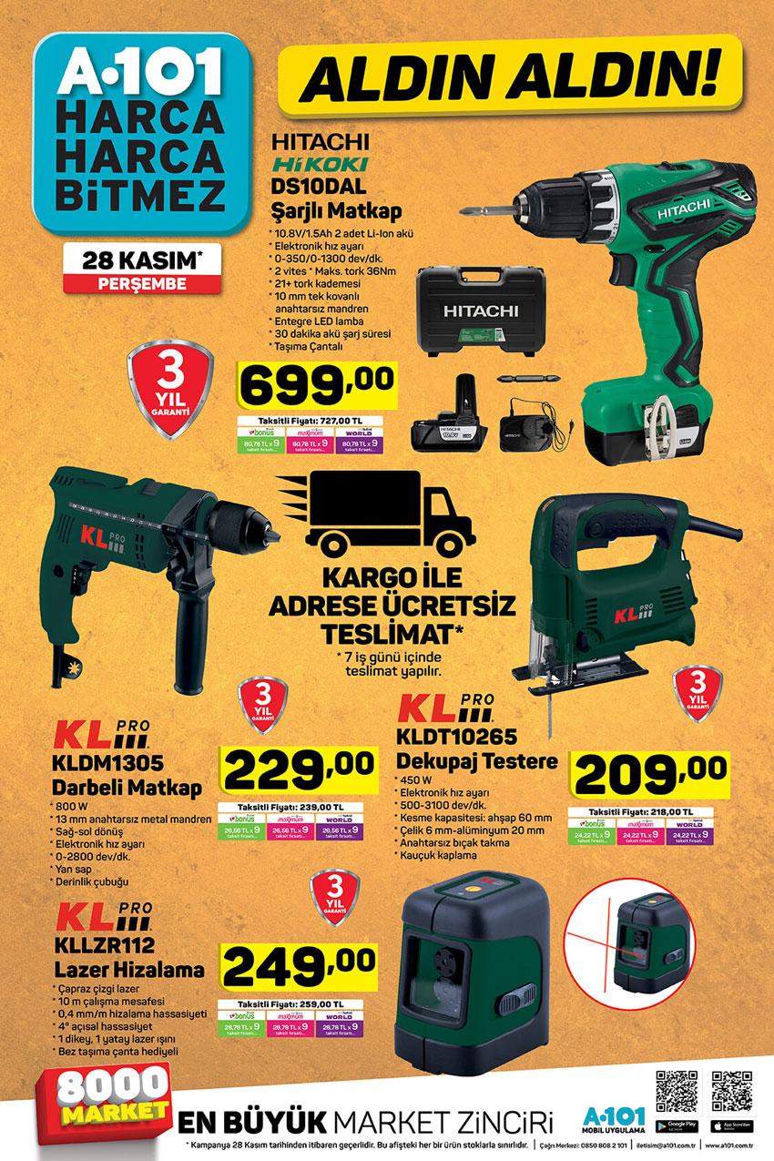 A101 Tamir Ürünleri Aktüel Ürün Katalogları Sayfası 28 Kasım