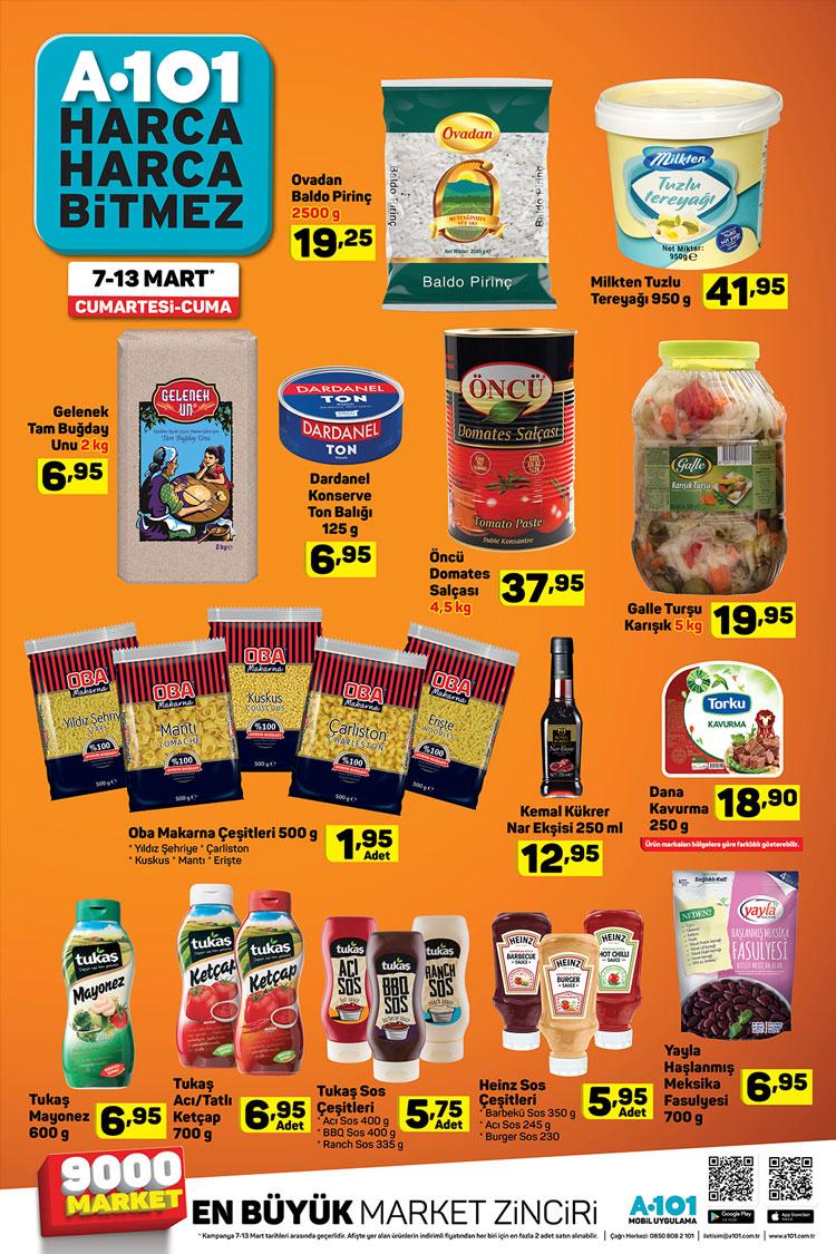 A101 8 Mart 2020 Aktüel Gıda Ürünleri Kataloğu