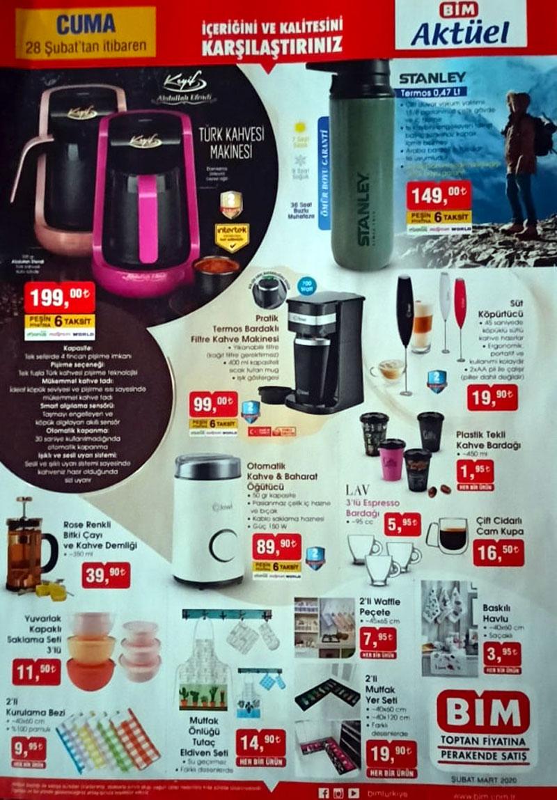 Bim 28 Subat 2020 Kahve Tutkunlari Ozel Katalogu