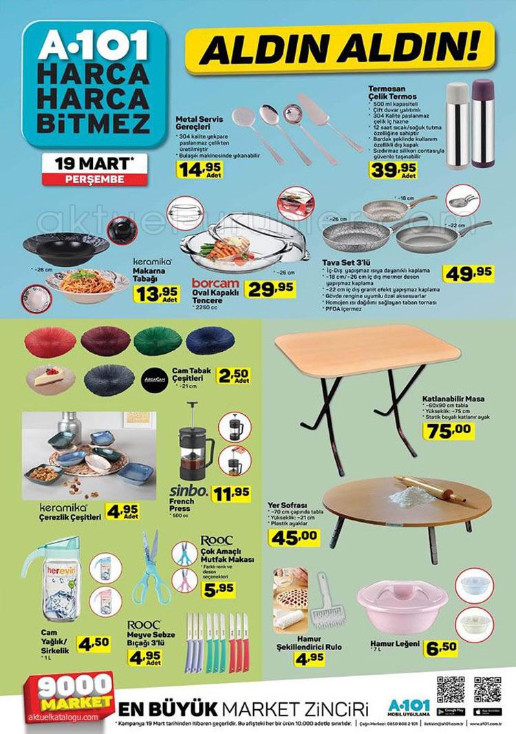 19 Mart 2020 A101 Aktuel Urunleri Mutfak Katalogu